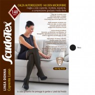 Scudotex Κάλτσες ριζομηρίου 597 140 DEN (mm Hg 19-22), Microfiber, κλειστά δάκτυλα, μαύρο