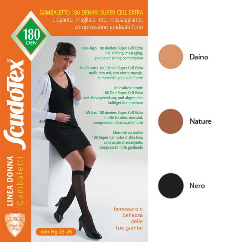 Scudotex Κάλτσες κάτω γόνατος 837 180 DEN (mm Hg 23-26), κλειστά δάκτυλα