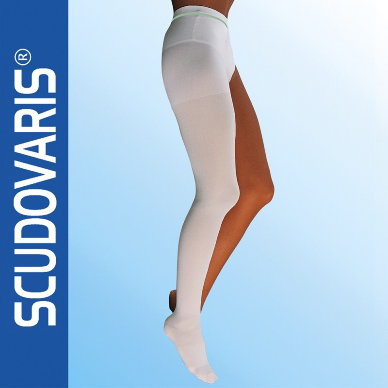 Scudovaris Αντιεμβολική κάλτσα ριζομηρίου 416 (mm Hg 18-24), 175+, κλειστά δάκτυλα, λευκό