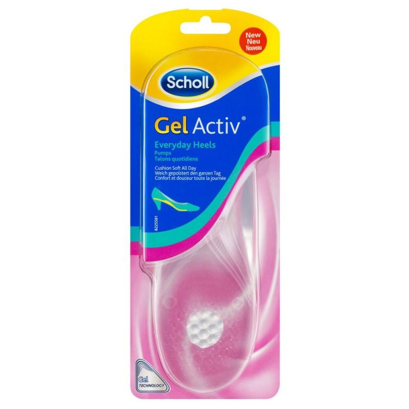 Scholl Gel Activ Everyday Heels, Γυναικεία πέλματα γέλης για τακούνια, 35-40.5