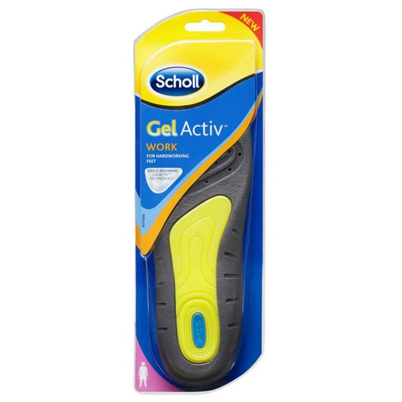 Scholl Gel Activ Work, Γυναικεία πέλματα γέλης για πόδια που καταπονούνται, 35-40.5