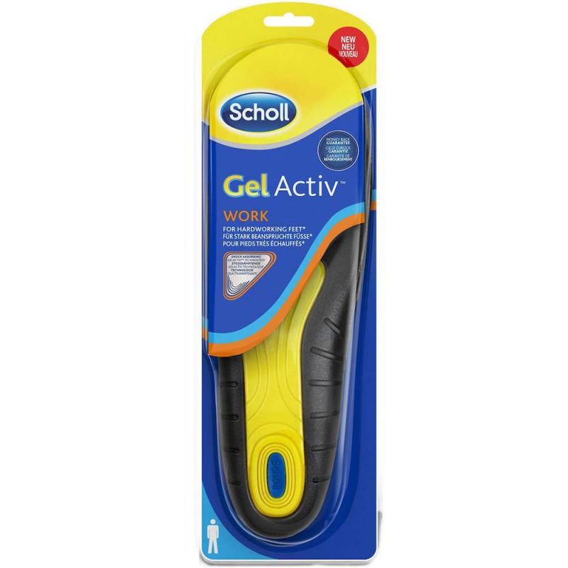 Scholl Gel Activ Work, Ανδρικά πέλματα γέλης για πόδια που καταπονούνται, 40-46.5