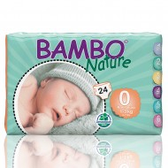 Bambo Nature πάνα Premature (1-3kg), συσκευασία 24 τεμ.