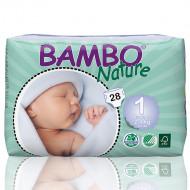 Bambo Nature πάνα Newborn (2-4kg), συσκευασία 28 τεμ.