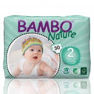 Bambo Nature πάνα Mini (3-6kg), συσκευασία 30 τεμ.