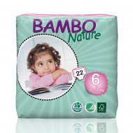 Bambo Nature πάνα XLarge (16-30kg), συσκευασία 22 τεμ.