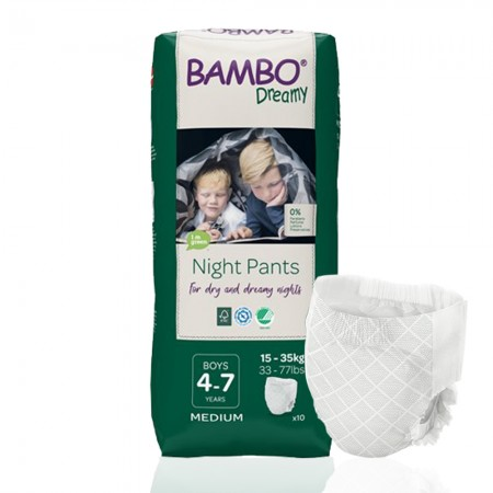 Bambo Dreamy πάνα βρακάκι νυκτός Boys 15-35kg, συσκευασία 6x10τεμ.
