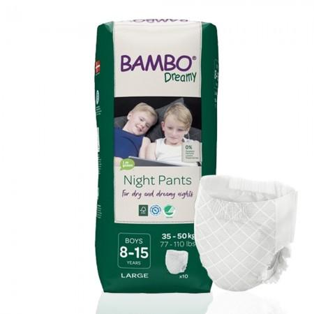 Bambo Dreamy πάνα βρακάκι νυκτός Boys 35-50kg, συσκευασία 6x10τεμ.