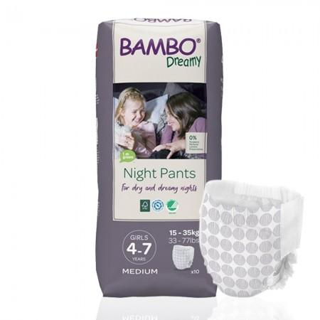 Bambo Dreamy πάνα βρακάκι νυκτός Girls 15-35kg, συσκευασία 6x10τεμ.