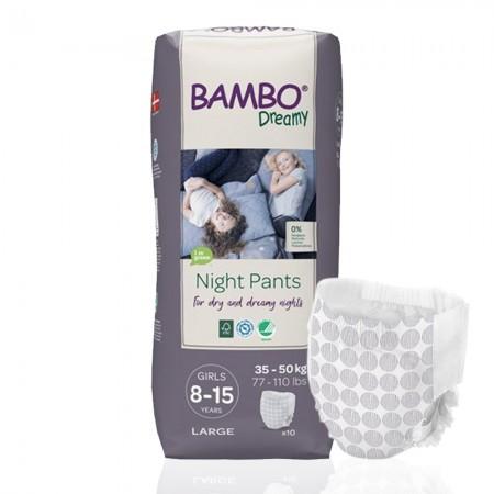 Bambo Dreamy πάνα βρακάκι νυκτός Girls 35-50kg, συσκευασία 6x10τεμ.