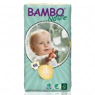 Bambo Nature πάνα Midi (5-9kg), οικονομική συσκευασία 66 τεμ.