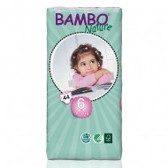 Bambo Nature πάνα XLarge (16-30kg), οικονομική συσκευασία 44 τεμ.