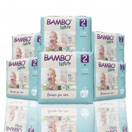 Bambo Nature πάνα no2 (3-6 kg), οικονομική συσκευασία 6x30τεμ.