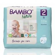 Bambo Nature πάνα no2 (3-6 kg), συσκευασία 30 τεμ.