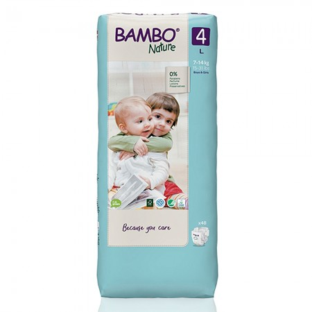 Bambo Nature Tall πάνα no4 (7-14 kg), οικονομική συσκευασία 3x48τεμ.