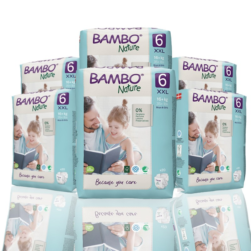 Bambo Nature πάνα no6 (16+kg), οικονομική συσκευασία 6x20τεμ.