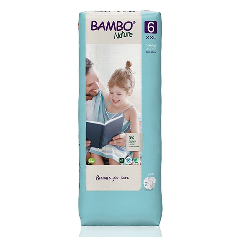 Bambo Nature Tall πάνα no6 (16+kg), οικονομική συσκευασία 3x40τεμ.