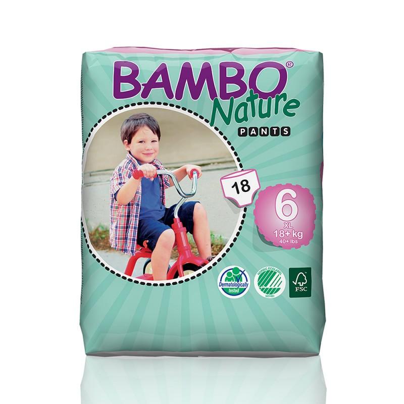 Bambo Nature πάνα βρακάκι XLarge (18+kg), συσκευασία 18 τεμ.