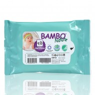Bambo Nature βιοδιασπώμενα μωρομάντηλα, συσκευασία 10τεμ.