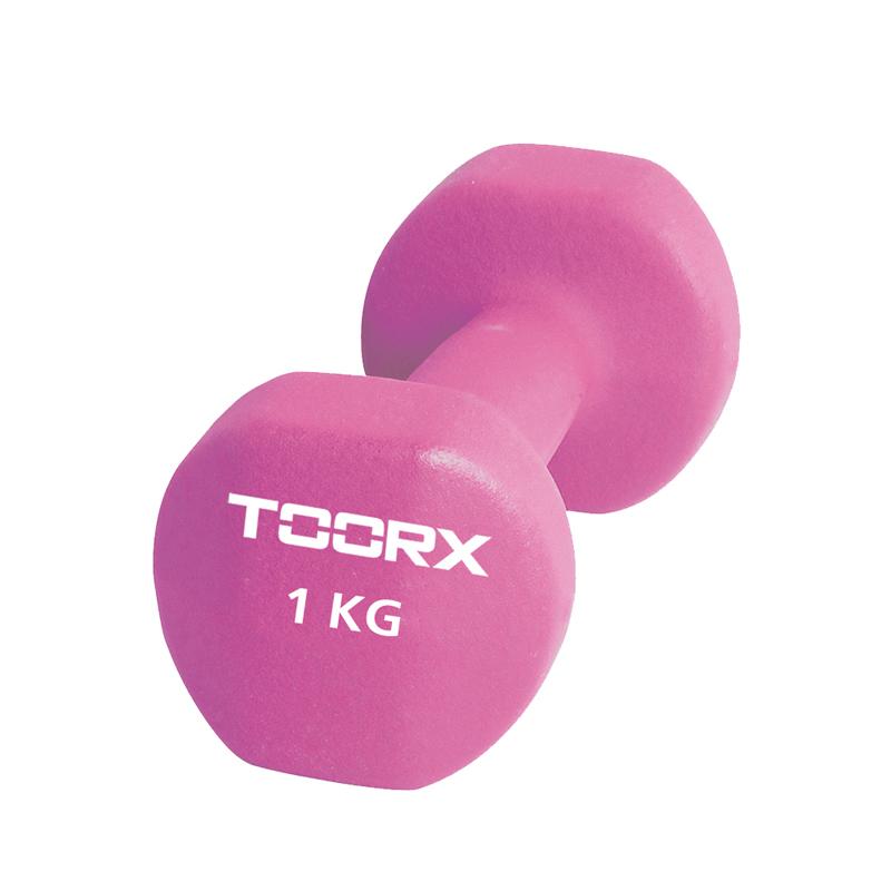 Βαράκι Χεριού Neoprene 1kg Ροζ Toorx