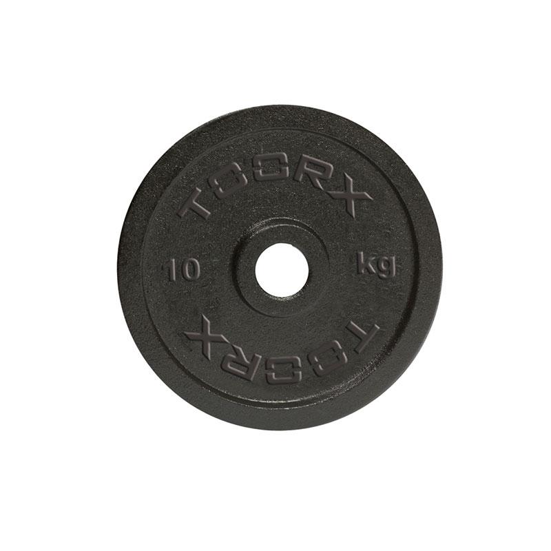 Μαύρος Μαντεμένιος Δίσκος 10 kg Ø25mm Toorx