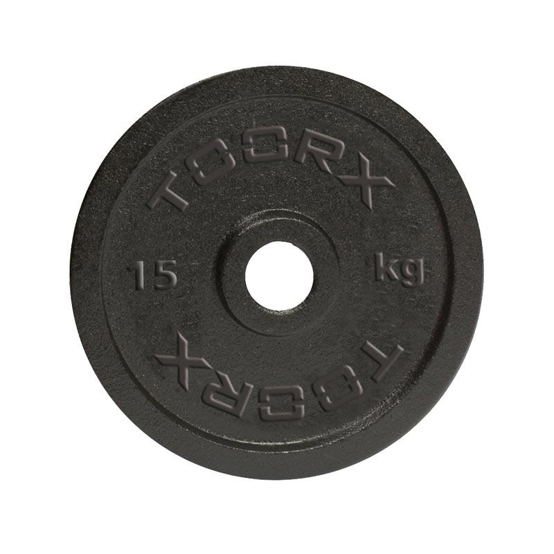 Μαύρος Μαντεμένιος Δίσκος 15 kg Ø25mm Toorx