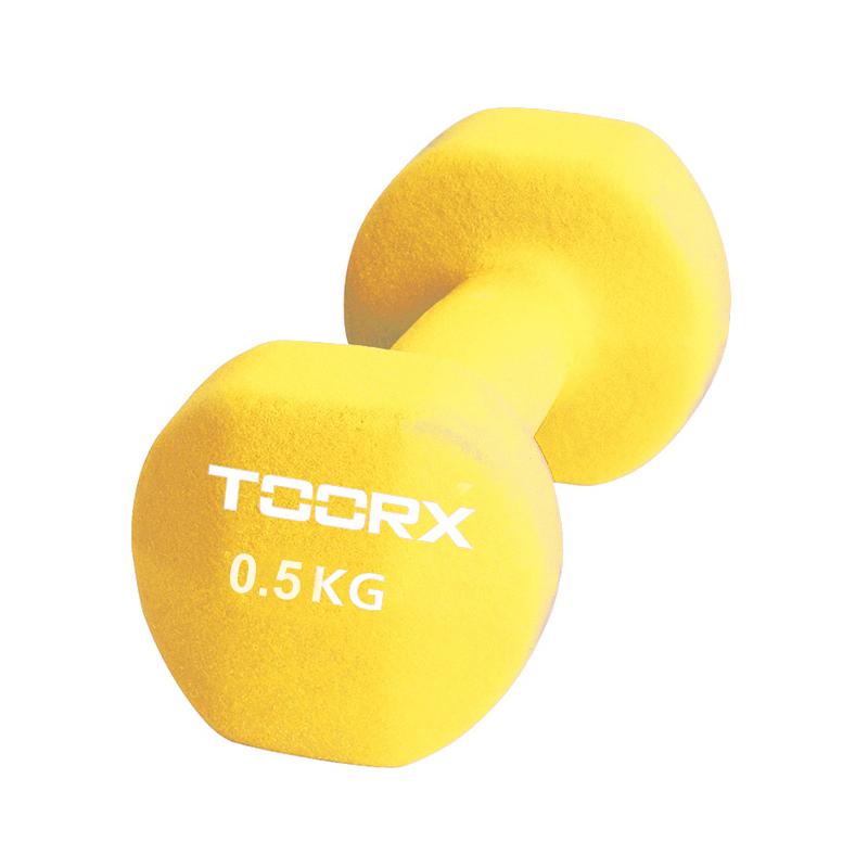 Βαράκι Χεριού Neoprene 0.5kg Κίτρινο Toorx
