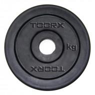 Μαύρος Πλαστικός Δίσκος 5 kg για Μπάρες Ø25mm Toorx
