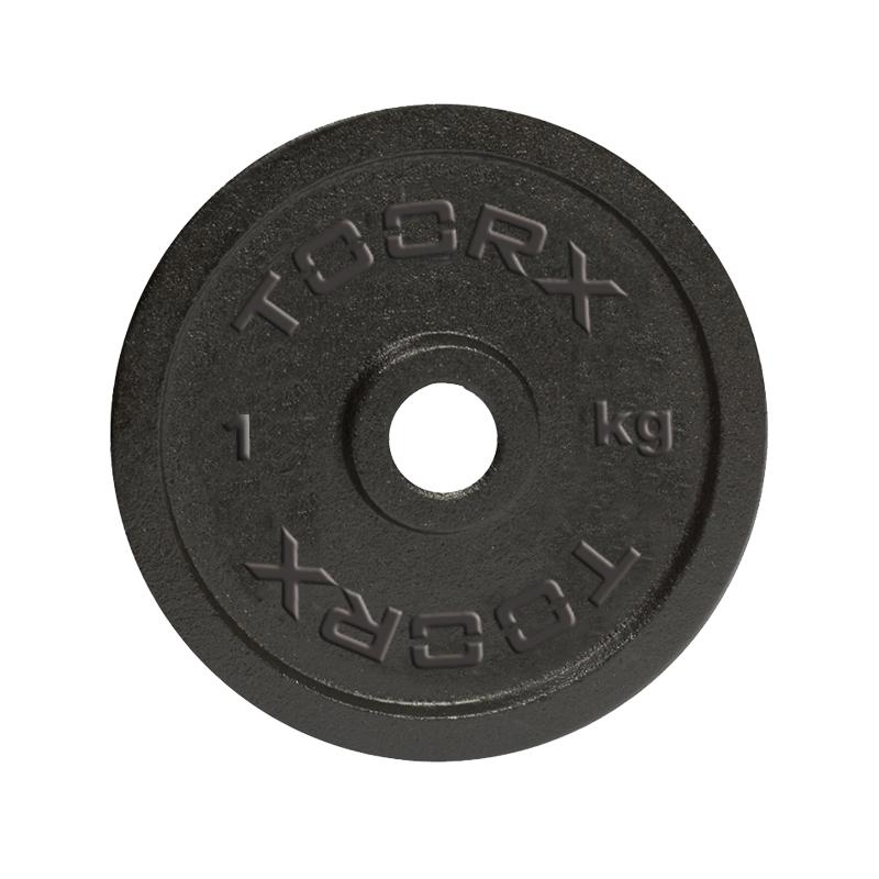 Μαύρος Μαντεμένιος Δίσκος 0,5 kg Ø25mm Toorx