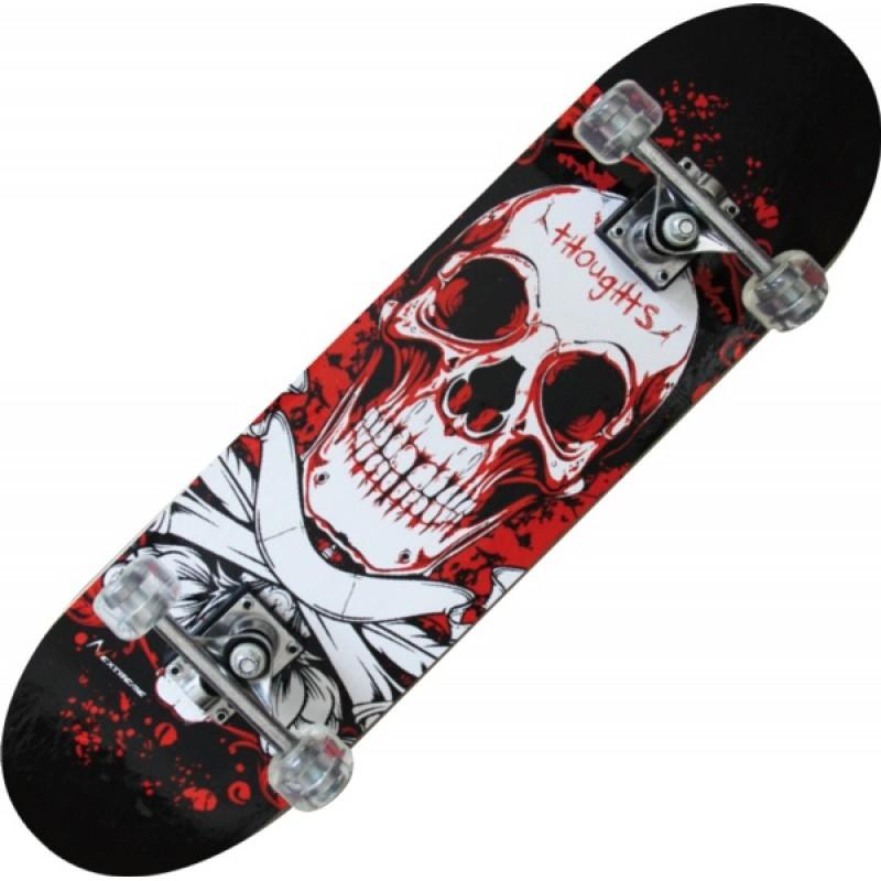 TRIBE PRO (BLOODY SKULL)-maple Skateboard-Nextreme