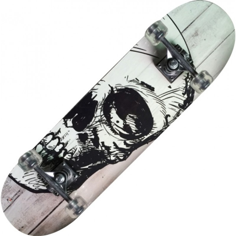 TRIBE PRO WHITE SKULL-maple Skateboard-Nextreme